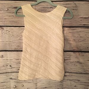 Ann Taylor Ivory Tank w/ Sequin Accents. XS
